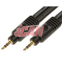 PREMIUM 3.5mm Stereo Male 22AWG Cable Gold Plated - 25 ft.