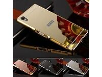 Solid back case for a Sony xperia Z3 phone GOLD
