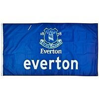 EVERTON FC FOOTBALL FLAG 5 X 3 WITH EYELETS OFFICIAL MERCHANDISE