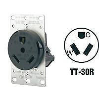30A RV Power Outlet Receptacle with Cover