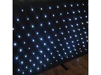 STARLIGHT DJ 120 White LED STAR CLOTH DJ LIGHTING EQUIPMENT 4 FT DJ STAND