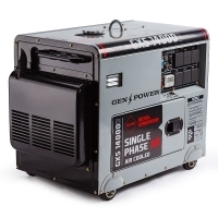 NEW GENPOWER 8.4kVA Max 6kVA Rated Diesel 13HP Generator Single Commercial Back