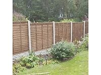 Landscaping, fencing, decking, turf, artificial turf.