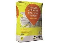 Weber chalk render x 10 un-used bags