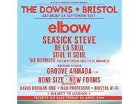 1 x Downs Festival ticket (Elbow, Roni Size, Seasick Steve, De La Soul, Groove Armada etc)