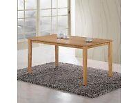 brand new 6 seat light oak dining table