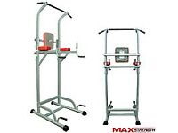 MAXSTRENGTH Pull Up Power Tower Station Abs Knee Crunch Chin Ups