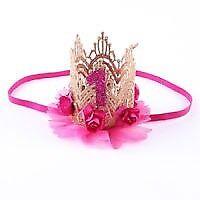 1st birthday crown hair clip