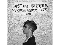 Justin Bieber Standing Tickets at Genting Arena (LG Arena) Birmingham on Monday, 24 October 2016