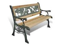 Garden Bench for Children Outdoor Animal Pattern 80 x 24 cm Small Child's