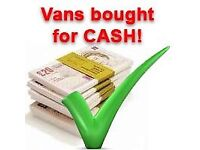 Vans bought for cash same day collection