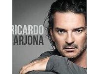 2 x Ricardo Arjona 2nd May London Eventim Apollo stalls seated tickets in hand