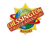2x Chessington Tickets - 10/07/17 Monday