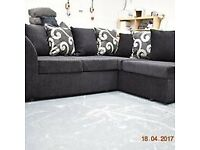BRANDED NEW BARCELONA CHENILLE FABRIC CORNER SOFA OR 3+2 SOFA SET AVAILABLE NOW IN STOCK