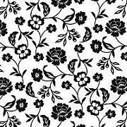Black and White Paper Napkins