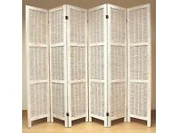 White Room Divider / Partition / Privacy Screen