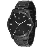 Lugano LG 1041 Black Metal Analog Watch
