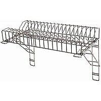 Stainless steel plate rack (90cm)