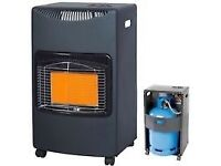 portable gas heater. Brand new refill (cost£32). Adjustable. Safe, super low cost, reliable heat.