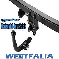 Example of a horizontal detachable swan neck type tow bar.