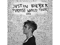 Justin Bieber Standing Tickets at Genting Arena (LG Arena) Birmingham on Monday, 24 October 2016