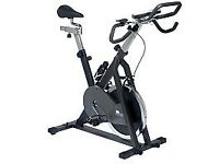 exercise bike ( proper spinning cycle ) - fixed flywheel working well but scruffy
