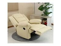 Chair manual recliners beige nearly new