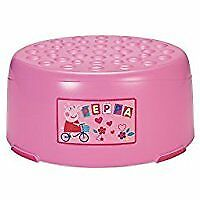FREE DELIVERY Mothercare Pink Children's Step Up Stool Kids Bathroom Kitchen Sink Girls Peppa