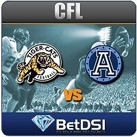 Tiger-Cats VS Argos, silver seats lower bowl, less than face