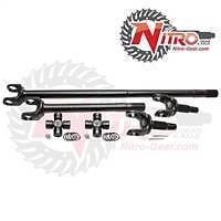Nitro 4340 Front Axle Kit Dana 44 74-79 Wagoneer Disc 19/30 Spl With 760x Joint