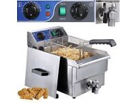 single fryer with draining tap