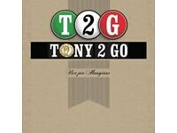 Manager Required for Tony 2 Go, Lindsayfield, East Kilbride