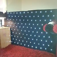 Starlight White 120 LED DJ Star Cloth Fit's the 4ft stands DJ Equipment