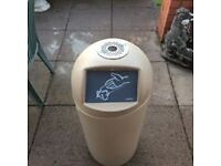 Rossignol 20L beige bin with ashtray top.