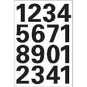 Zahlen Selbstklebend