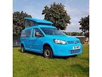 VW Volkswagen Caddy Maxi campervan with poptop