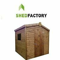 **SALE** 6x4 6x6 8X6 12MM GARDEN WOODEN SHED T&G DELIVERED AND FITTED FREE FROM ONLY £275 BARGAIN