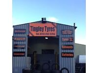 Tyre business for sale in great location next to M62 motorway