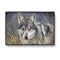 Wolf doormat, Wolves door-mat, welcome mat, D36 Wolf