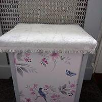 vintage linen bin