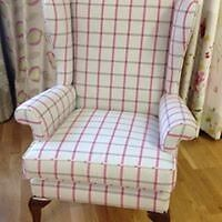 Newly re-upholstered Armchair
