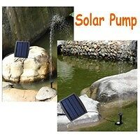 Brushless Fountain Pond Rockery Solar Water Pump 12 x 8cm Square Panel 7V 150L/H