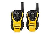 Binatone Latitude 100 Twin Walkie Talkie works over 3 kilometers - Black/Yellow