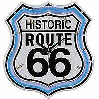 wanduhr route 66 ebay. Black Bedroom Furniture Sets. Home Design Ideas