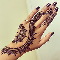 $5 Henna Tattoo & Eyebrows Threading.  (Mother's day deal )