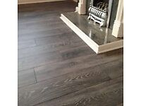 8mm AC4 grey Charcoal Laminate Flooring package Fully Fitted
