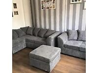 ¬¬ SAME DAY / NEXT DAY DELIVERY AVAILABLE ¬¬ BYRON JUMBO CORDED CORNER SOFA OR 3+2 SOFA SET