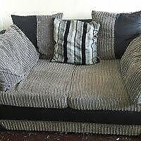 2 seater sofa grey and black