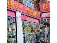 Party Shop Part-Time Sales Assistant / Driver, East Sheen