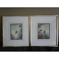 Set of Pictures in Metal Frames